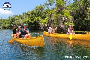 tulum tour 5 cenotes tankah tour - ride a canoe